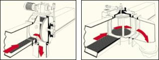 discharger in discharge position