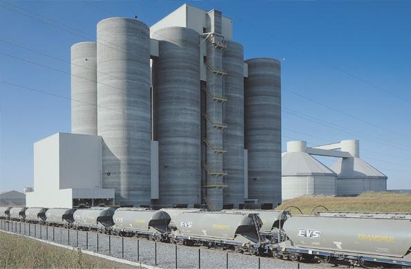 8 ibau silos with dispatch facilities - Silos