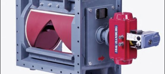 The IBAU Flow-control gate gasket exchange in open position